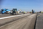 Runway works underway at London Stansted