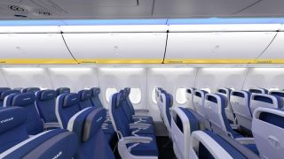 Ryanair cabin in newly delivered Boeing 737-800