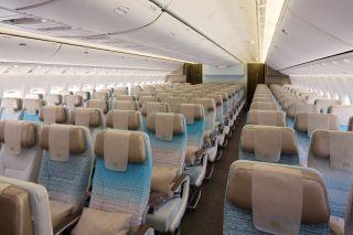 Emirates Boeing 777-300ER Economy Class Cabin
