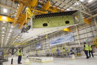 A350 XWB Wing Assembly in Broughton UK