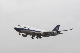 British Airways Boeing 747 im BOAC-Retro-Design
