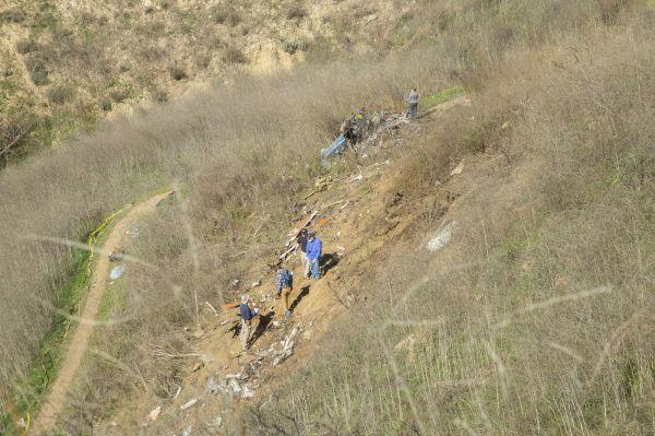 Debris field near Calabasas
